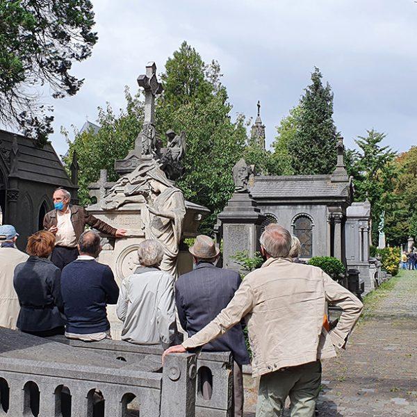 visite du cimetière de Laeken